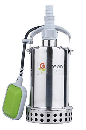 Green Expert 203625 2/3HP Submersible Stainless Steel Sump P