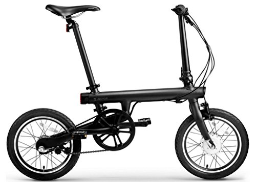 Juoos XiaoMi Mi Qicycle Electric Bluetooth Smartphone Lithium 16-inch Foldable Smart Bicycle With Transformer Matte Black