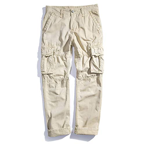 Stay With Me Cargo Pants Mens Baggy Casual Pants Mens Trousers Army Military Active Pants Japanese Hip Hop Joggers 40,Khaki,33