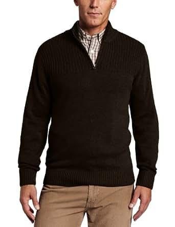 Dockers Men's 1/4 Zip Fleece Sweater, Burlwood, Small