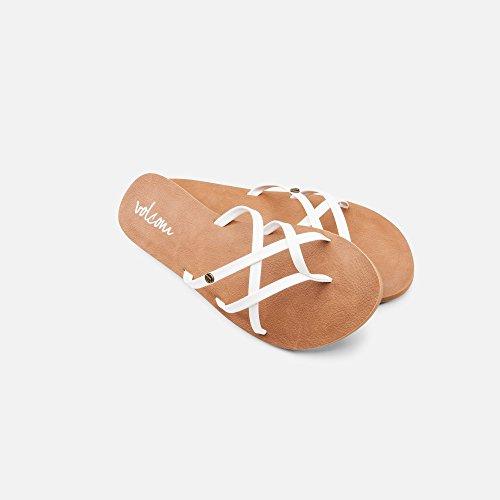 Volcom New School Womens Dress Sandal,White,9 ()