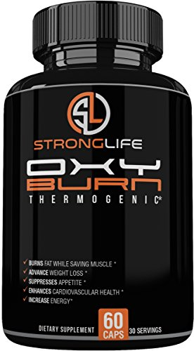 Stronglife Thermo Fat Burner Capsules – Weight Loss Supplement with Green Tea, Raspberry Ketones, Yohimbe Bark,- Natrual Energy Booster, Enhance Muscle Strength, Focus Support – Non-GMO- Made in USA