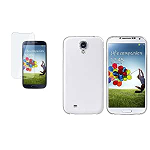 CommonByte Clear White Ultra Slim Hard Case+Screen Protector For Samsung Galaxy S4 IV i9500