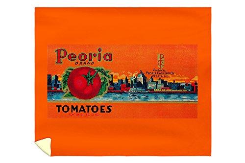 (Lantern Press Peoria Tomato Label 2061 (88x104 King Microfiber Duvet Cover))