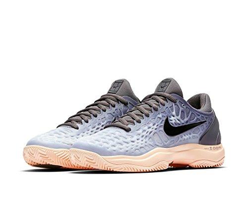 3 Nike Cage Damen grau Clay Zoom Tennisschuh Uw6Rw8Bxn
