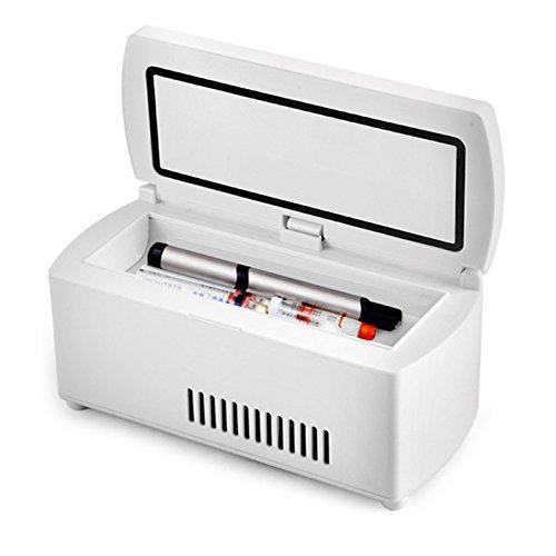 (Fencia Insulin Cooler Refrigerated Box,Portable Medicine Refrigerator and Insulin Cooler for Car, Travel, Home - Mini Drug Constant Temperature Refrigerator Drug Reefer 2-8℃, Small Travel Box for Medi)