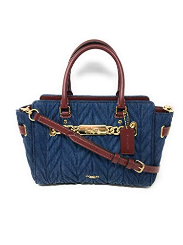 COACH F39905 BLAKE CARRYALL 25 WITH QUILTING DENIM by Coach (Image #5)