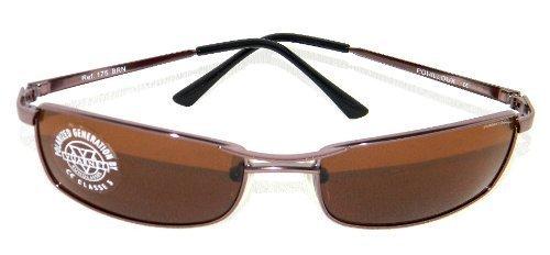 Gafas de sol de hombre Vuarnet Metal Marrón 175 BRN POLARIZADAS nuevo