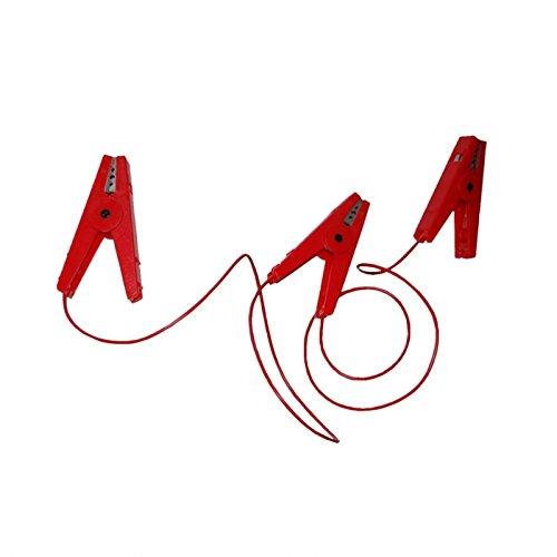 Gö bel Clô ture é lectrique accessoires Clô ture Câ ble de raccordement avec 3 pinces crocodile rouge Göbel