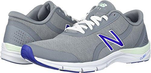 New Balance Women's 711v3 Cross-Trainer-Shoes, Steel/Blue Iris, 7 D (Iris Balance)