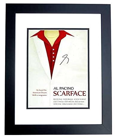 Al Pacino Signed - Autographed SCARFACE 10x15 Photo BLACK CUSTOM ...