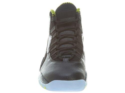 Nike De Jordan Negro Verde black 10 Gris Green Vnm anthrct Hombre Gry Zapatillas Deporte Air Para Retro cl gXwgS