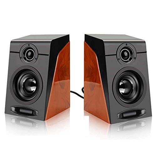 Cuasting 3Wx2 Computer Speakers with Surround Stereo USB Wired Powered Multimedia Speaker for PC/Laptops/Smart Phone