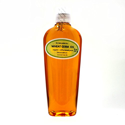 Wheat Germ Oil Unrefined Cold Pressed Organic Pure by Dr.Adorable 8 Oz