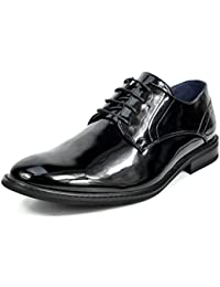 Bruno MARC PRINCE Men's Modern Classic Brogue Lace Up Leather Lined Perforated Dress Oxfords Shoes