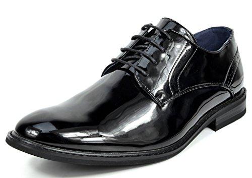 Bruno Marc Men's Prince-16 Black Pat Leather Lined Dress Oxfords Shoes - 13 M US