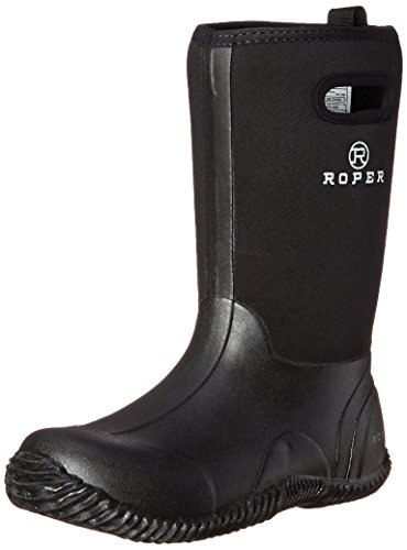 (Roper Barnyard Rubber Barn Yard Chore Boot (Toddler/Little Kid/Big Kid), Black, 1 M US Little Kid)