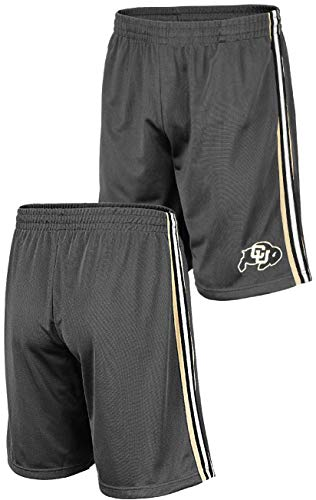 NCAA Men's Grey Santiago Synthetic Shorts (Medium, Colorado Buffaloes)