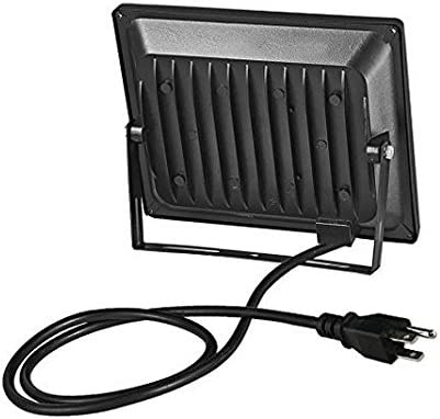 US 3-Plug LED Flood Light,chunnuan, 100W,10000LM,2800-3200K Warm White , IP65 Waterproof,Aluminium Strahler,Super Bright Waterproof Security Floodlight,110V