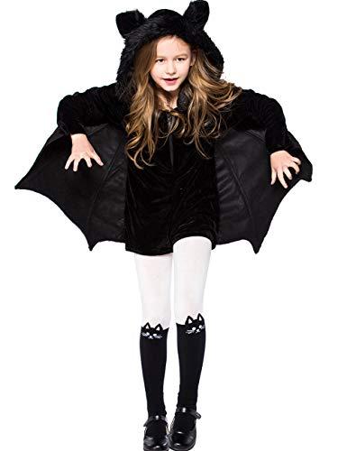 Kids Batman Outfit Vampire Bat Costume for Girls Halloween Animal Cute Dress 2-3t