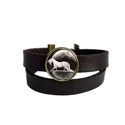 LooPoP Vintage Punk Dark Brown Leather Bracelet Maze Runner Quote Pendant Belt Wrap Cuff Bangle Adjustable