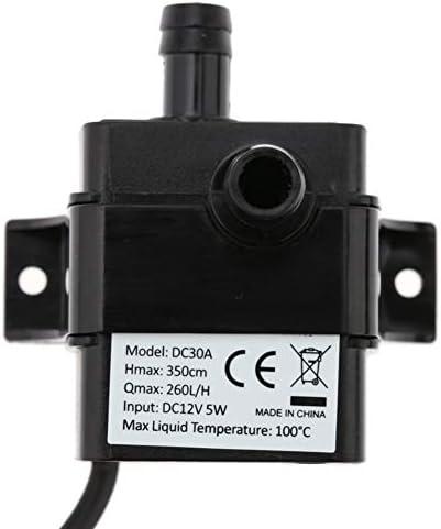 Haikellos Ultra-leise Mini-USB 5 V DC 2.3W Micro Brushless Wasser-Öl-Pumpe wasserdichte Tauch Brunnen Aquarium Umlauf 220L / H Aufzug 250cm Hauswasserpumpe