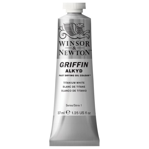 Winsor & Newton Griffin Alkyd Fast Drying Oil Colour Paint, 37ml tube, Titanium White