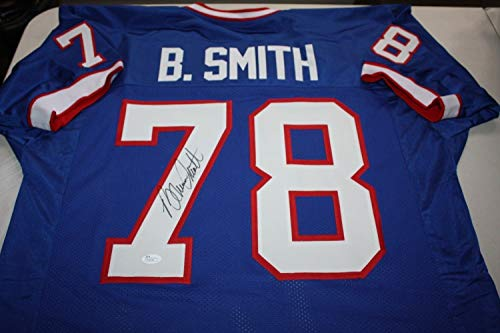 Bills Bruce Signed Smith (Buffalo Bills Bruce Smith #78 Autographed Signed Jersey 4X Afc Champs Hof 09 Jsa Certified)
