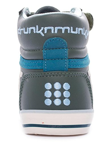 DrunknMunky Boston Classic 198 Unisex Kinder, Glattleder, Sneaker High