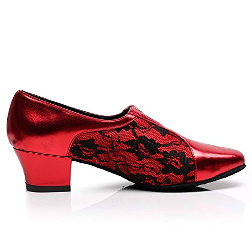 Latine Performance D'unité 45 Moderne Danse Chunky 45 Centrale Df Bal 33 Salle Net Femmes L Chaussures Red taille De Standard yc PS0gcqX