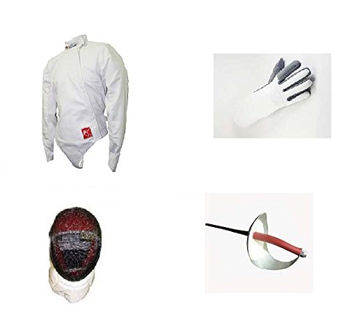 Blade Practice 4 Piece (Jacket, Glove, Sabre, mask) Sabre Fencing Beginner Set