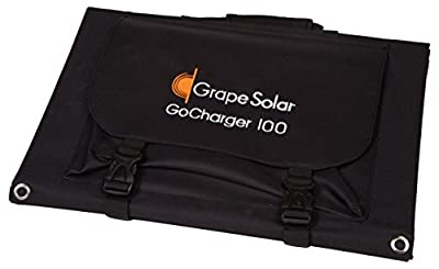 Grape Solar GS-GoCharger-100 100W Monocrystalline Foldable Solar Panel with 8mm Barrel Connector