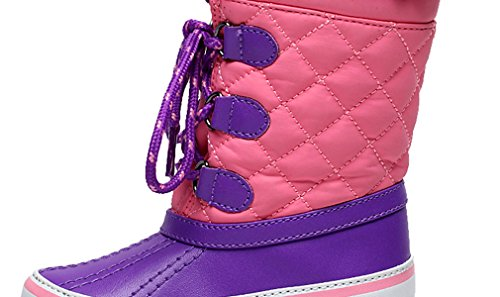 Up Girls Boot Cold Weather Boot Hiking Sneaker Lace Snow Boys Waterproof Flat Cotton Boot Pointss Baby Purple Boot 75c8Sz0aP7