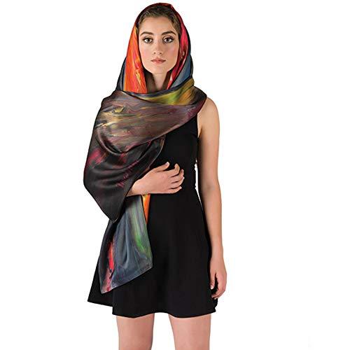 Art Silk Scarf - 100% Silk Fashion Scarf - Whirlpool