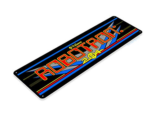 Tinworld TIN Sign Robotron Arcade Game Room Shop Marquee Metal Sign Decor Decor Retro Console C500 ()