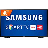 "TV Samsung 40"" Led Smart, Full HD, 2X HDMI, USB, Un40J5290Agxzd, Preto"