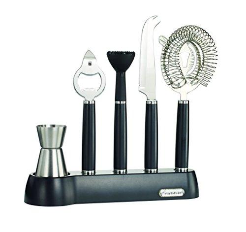 Rabbit 6 Piece Bar Tool Set, Black