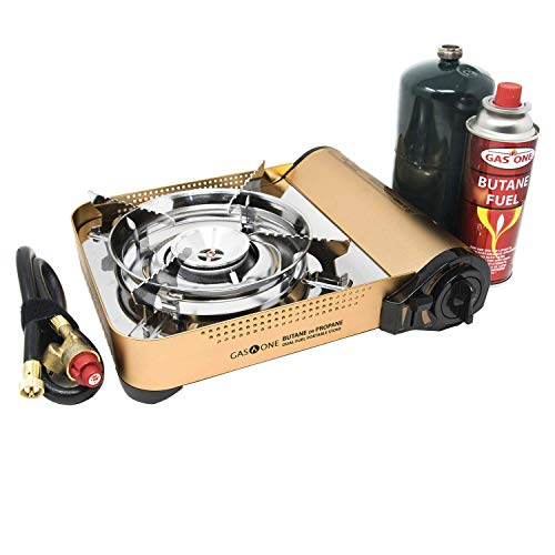 - Gas ONE GS-4000P - Camp Stove - Premium Propane or Butane Stove with Convenient Carrying Case, Great for Camp Stove and Portable Butane Stove for All Cooking Application Hurricane Supplies