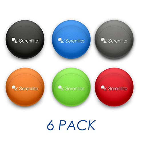 Serenilite Hand Therapy Stress Ball - Optimal Stress Relief - Great for Hand Exercises and Strengthening (6 Ball Bundle)