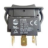 KEDU HY60B 6Pins Push Button Switch On-Off-On
