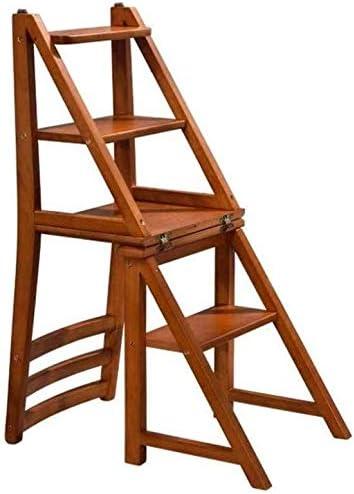 ZHWEI Escalera Plegable con 4 Pasos Escalera Plegable De Madera For El Hogar Biblioteca Loft Escaleras De Tijera Plegable Ligera Construcción Robusta: Amazon.es: Hogar