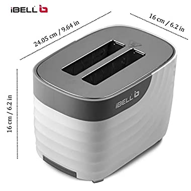 iBELL WG70 700-Watt Premium Pop-up Bread Toaster with Crumb Tray, Mid Cycle Heating Element (White) 12