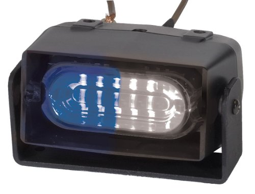 Code 3 / ECCO Safety Group - ESX1RD-BW - Blue/White Single Head Dash/Deck Light, Permanent, 12VDC ()