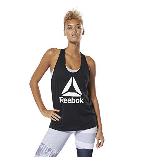 Reebok Workout Ready Supremium 2.0 Big Logo Tank, Black, Large