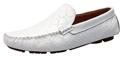 Salabobo QYY-9925 New Mens Stylish Casual Loafers Slip-on Moccasins Driving Shoes White Q3sZocin