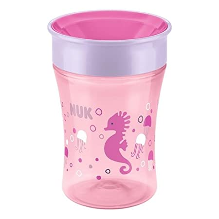 NUK Magic 360° 250ml Cup 8mths+ , Orange Crab MAM