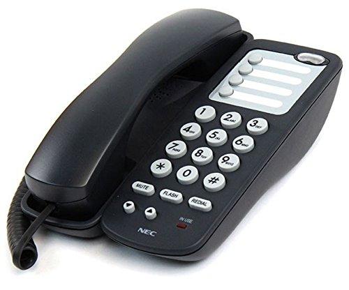 Line Analog Single Telephone (NEC Single Line Corded Analog Telephone (780034) Black DTH-1-1)