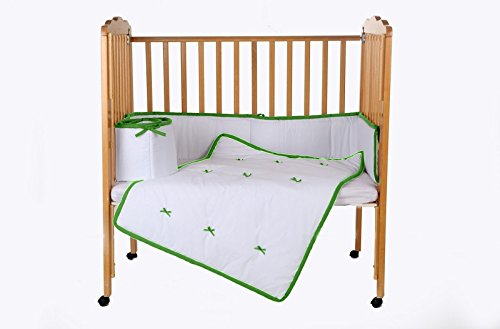 Baby Doll Bedding Forever Mine Junior Mini Crib/Port-a-Crib Bedding Set, Green Apple by BabyDoll Bedding   B00ZC1HLJA
