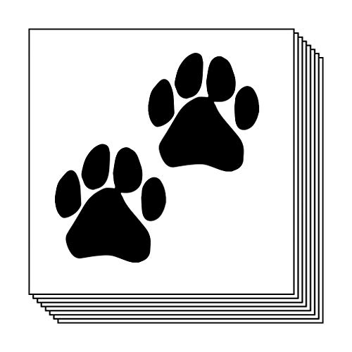 Black Paw Prints Temporary Tattoos (10-Pack) | Skin Safe | MADE IN THE USA| Removable]()