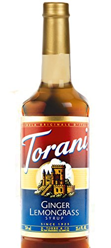 Torani Ginger Lemongrass Syrup (Ginger Vodka Cocktail)